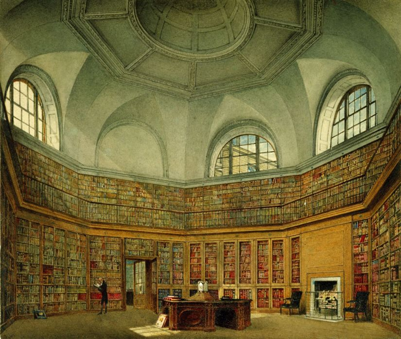 Buckingham_House,_Octagon_Library,_by_James_Stephanoff,_1818_-_royal_coll_922147_257078_ORI_0